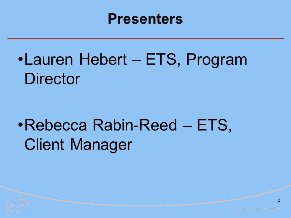 Lauren Hebert – ETS, Program Director