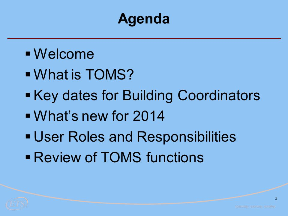 Key dates for Building Coordinators What's new for 2014