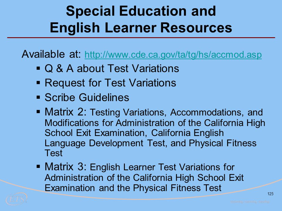 Special Education and English Learner Resources