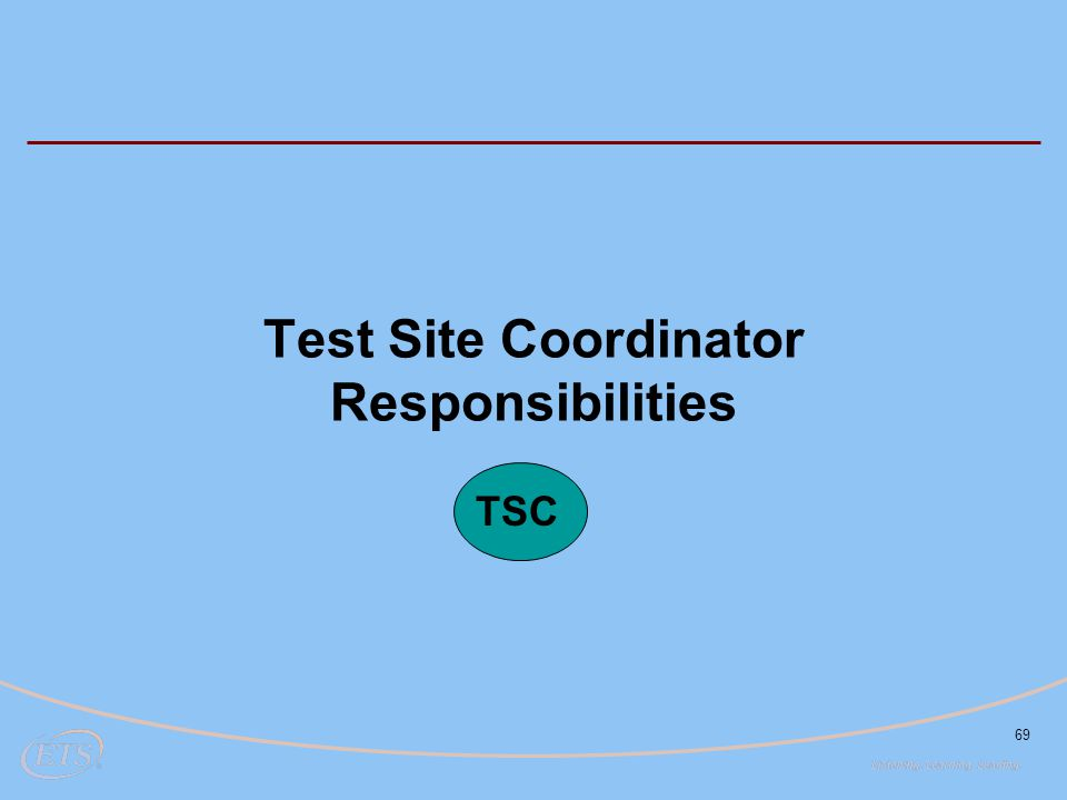 Test Site Coordinator Responsibilities