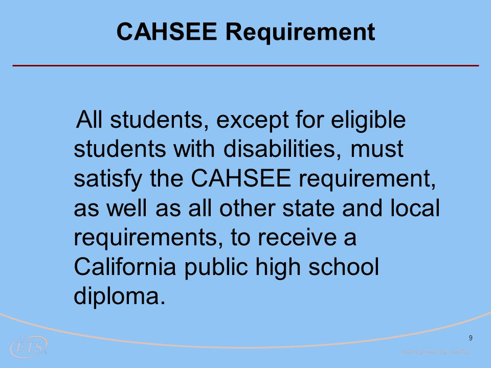 CAHSEE Requirement
