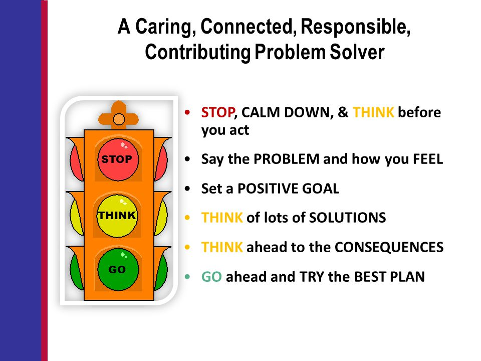 A Caring, Connected, Responsible, Contributing Problem Solver
