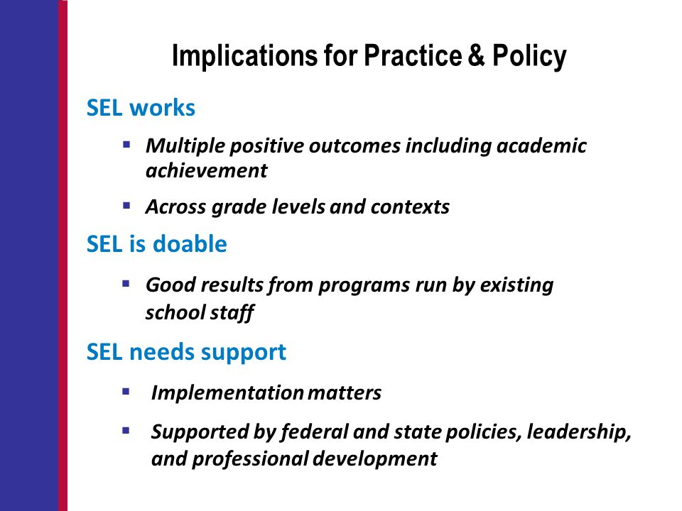 Implications for Practice & Policy