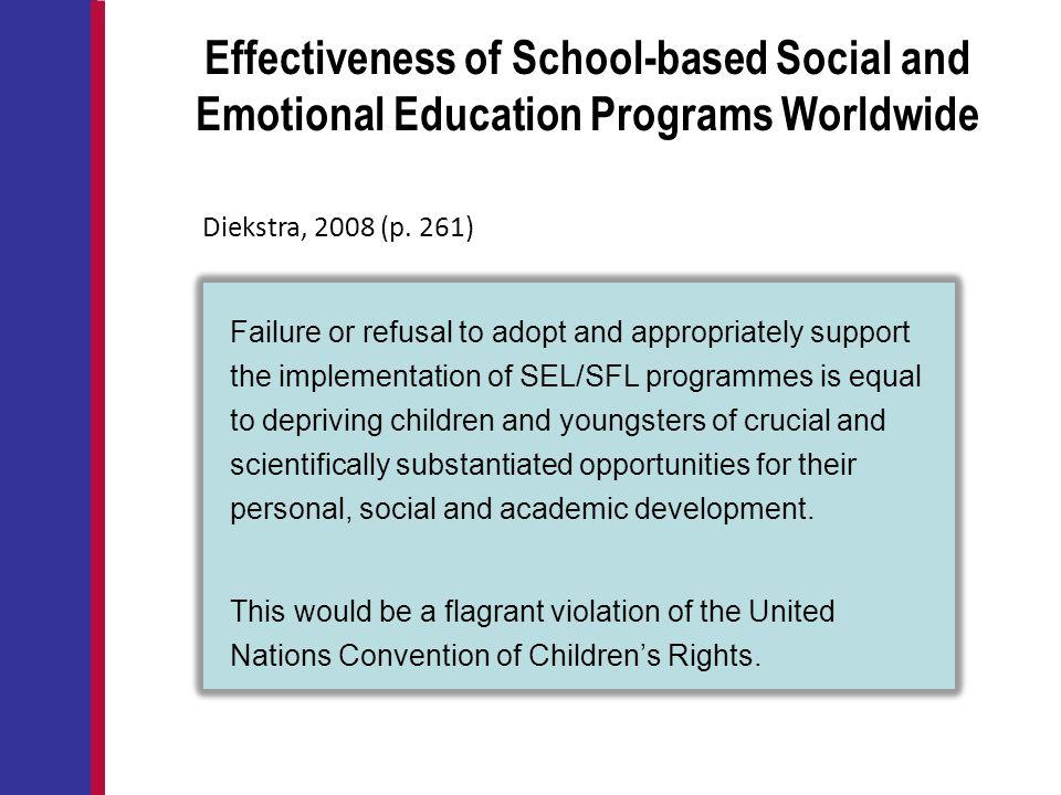 Effectiveness of School-based Social and Emotional Education Programs Worldwide
