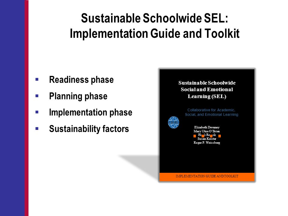 Sustainable Schoolwide SEL: Implementation Guide and Toolkit
