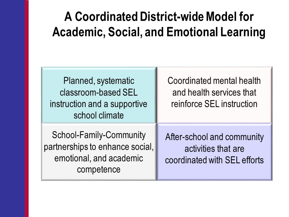 A Coordinated District-wide Model for Academic, Social, and Emotional Learning