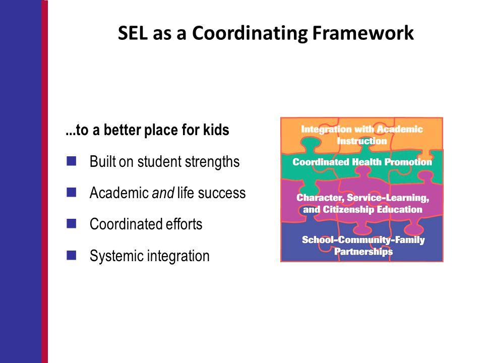 SEL as a Coordinating Framework