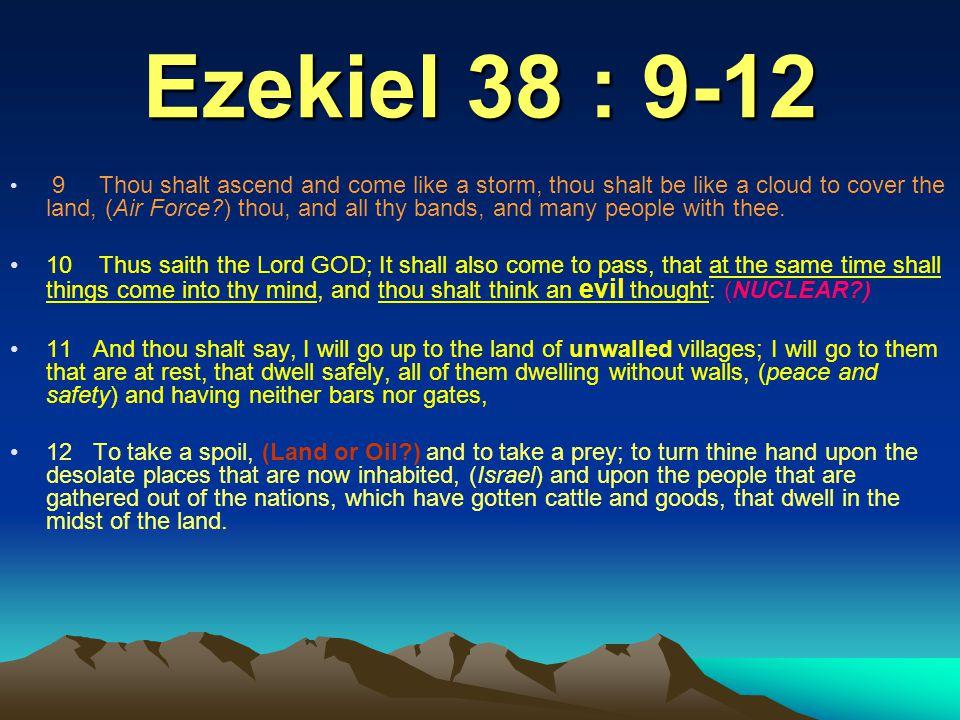Ezekiel 38 : 9-12