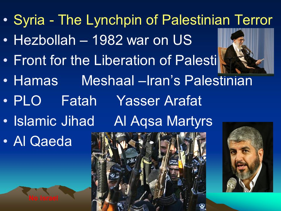 Syria - The Lynchpin of Palestinian Terror Hezbollah – 1982 war on US
