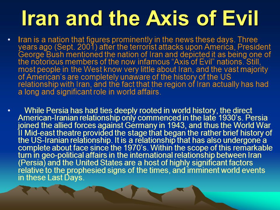 Iran and the Axis of Evil