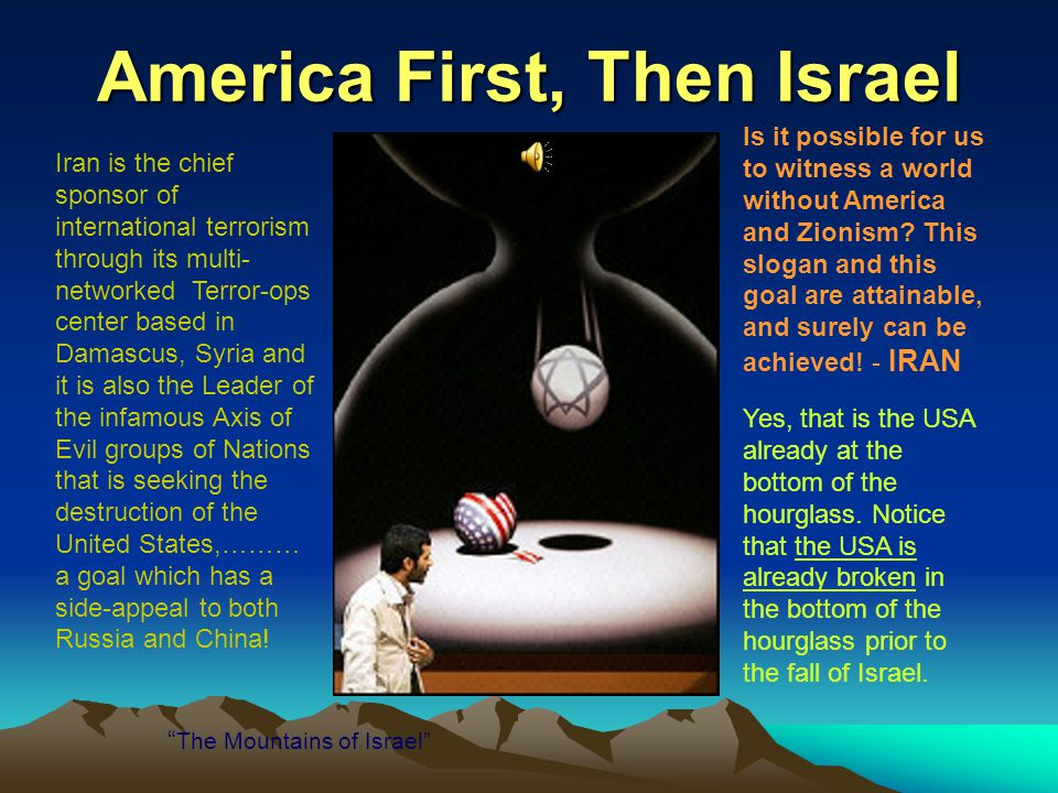 America First, Then Israel