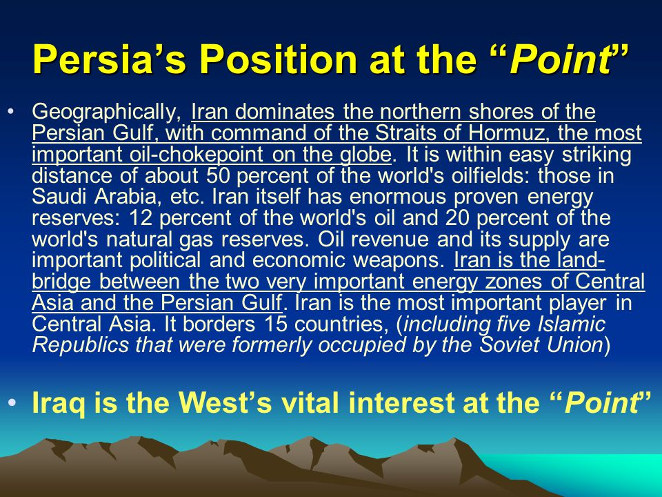 Persia's Position at the Point