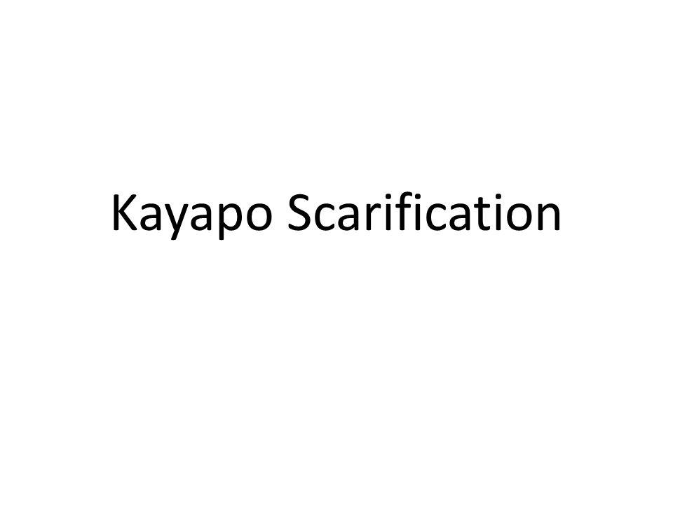 Kayapo Scarification
