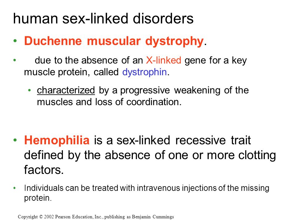 human sex-linked disorders