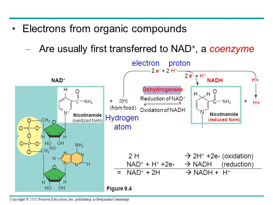 Electrons from organic compounds
