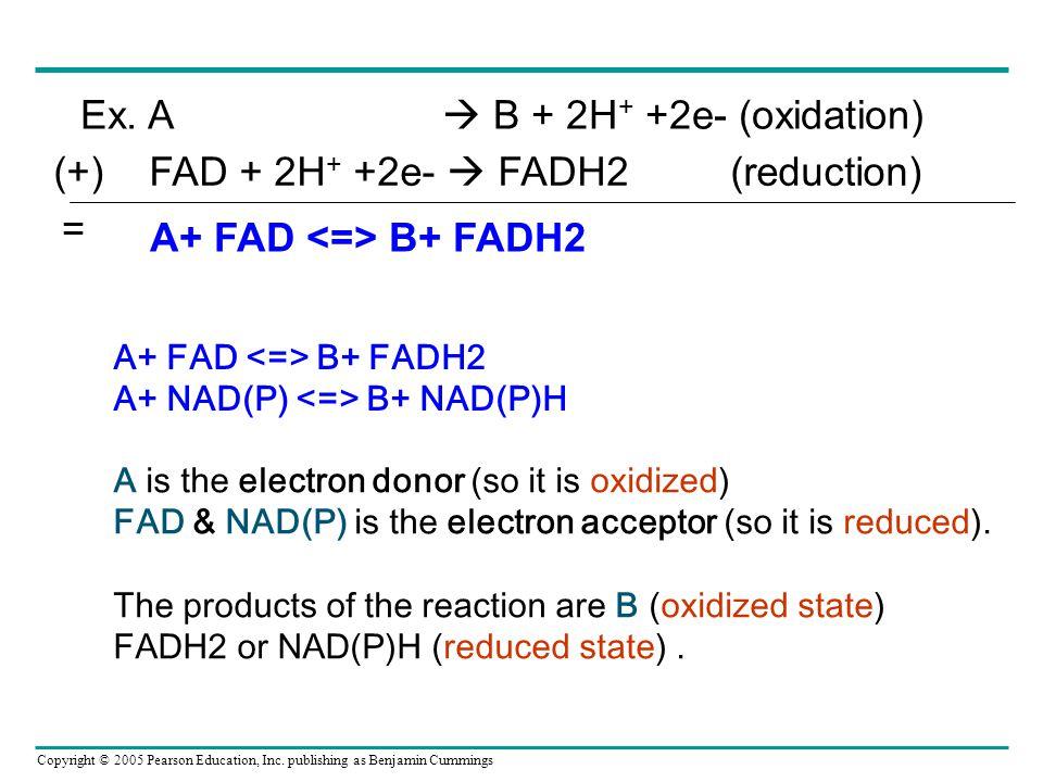 Ex. A  B + 2H+ +2e- (oxidation)