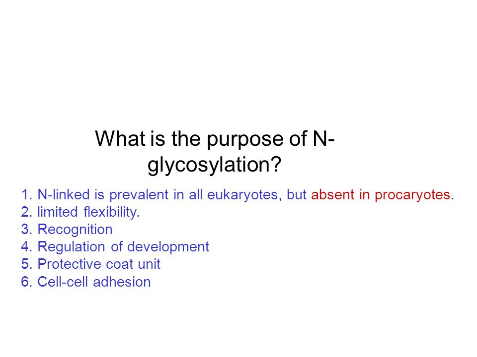 What is the purpose of N-glycosylation