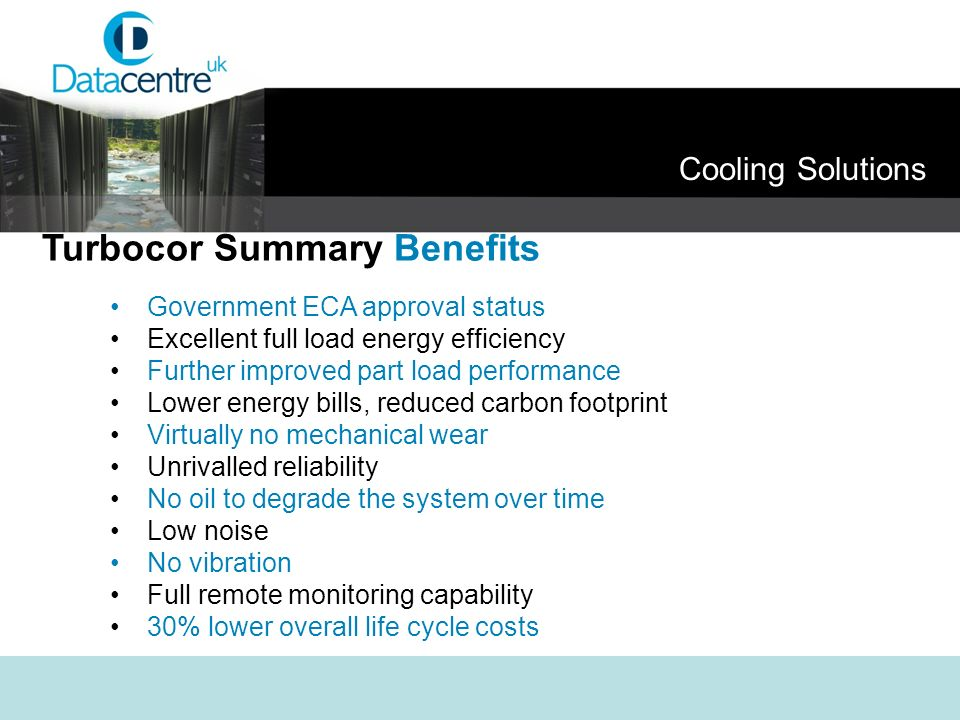 Turbocor Summary Benefits