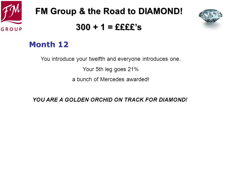 YOU ARE A GOLDEN ORCHID ON TRACK FOR DIAMOND!