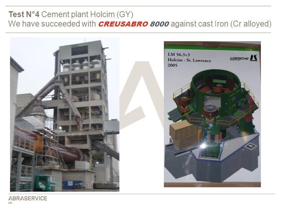 Test N°4 Cement plant Holcim (GY)