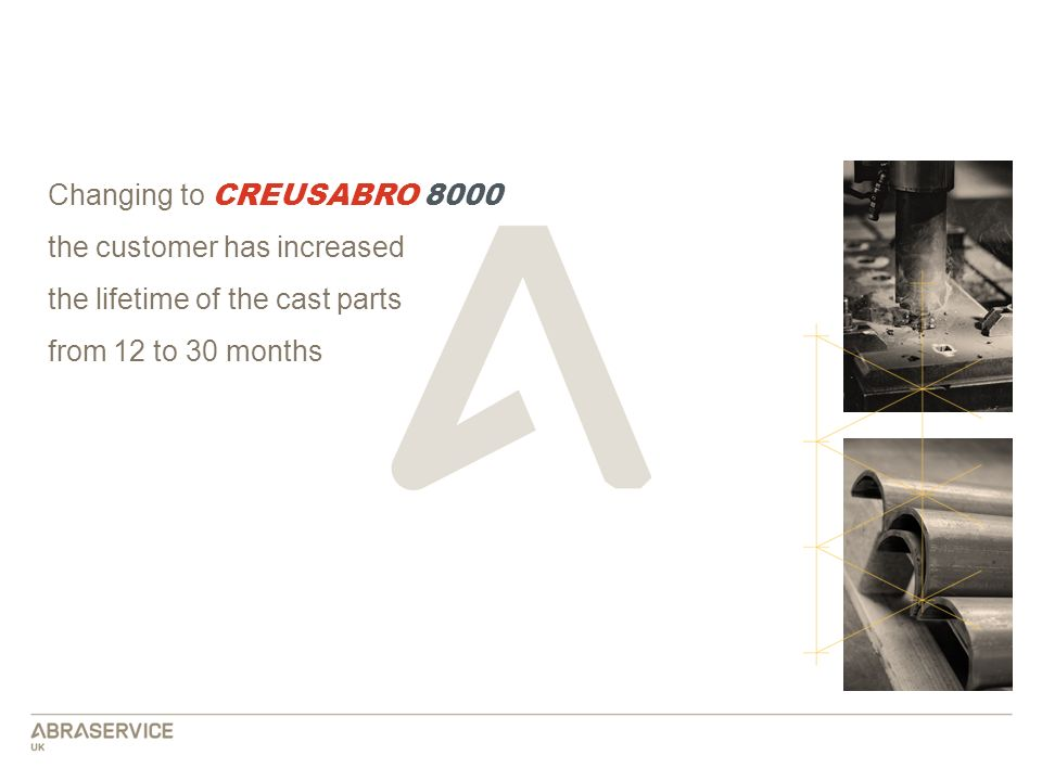 Changing to CREUSABRO 8000 the customer has increased.