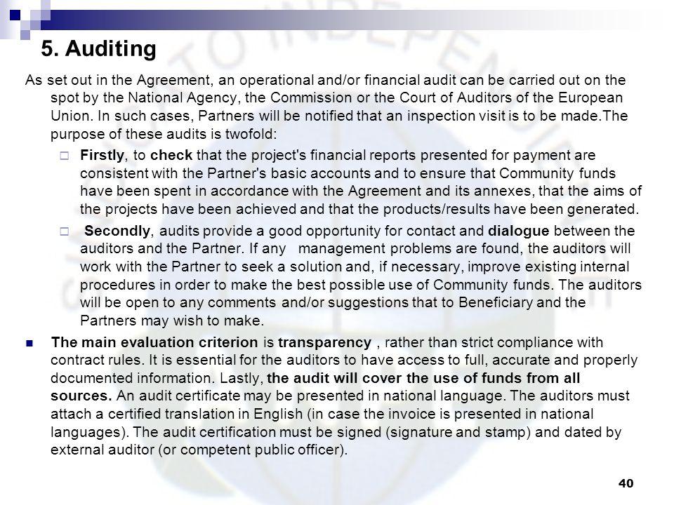 5. Auditing