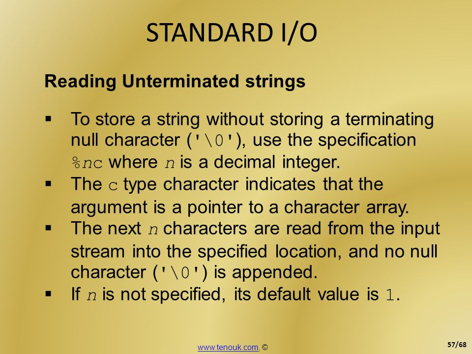 STANDARD I/O Reading Unterminated strings