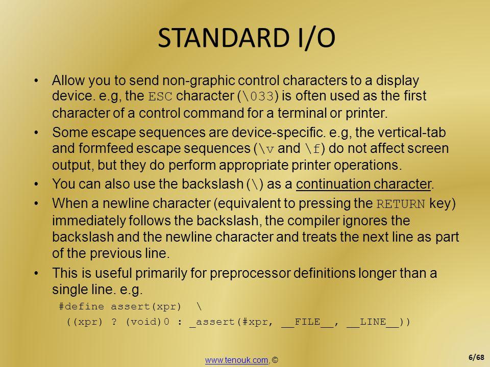 STANDARD I/O