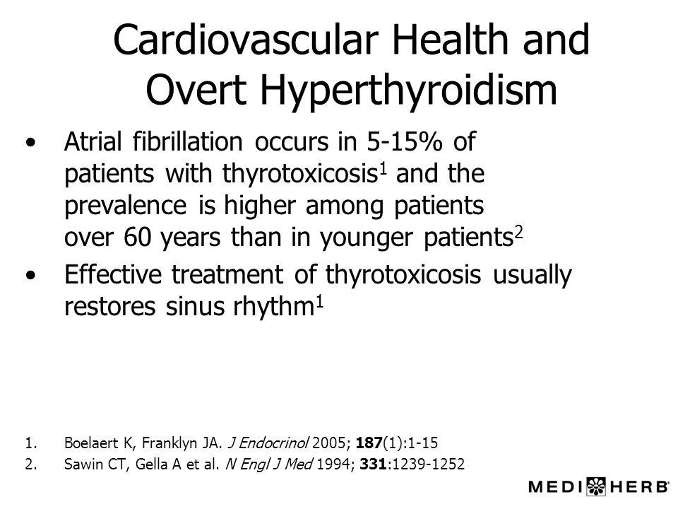Cardiovascular Health and Overt Hyperthyroidism