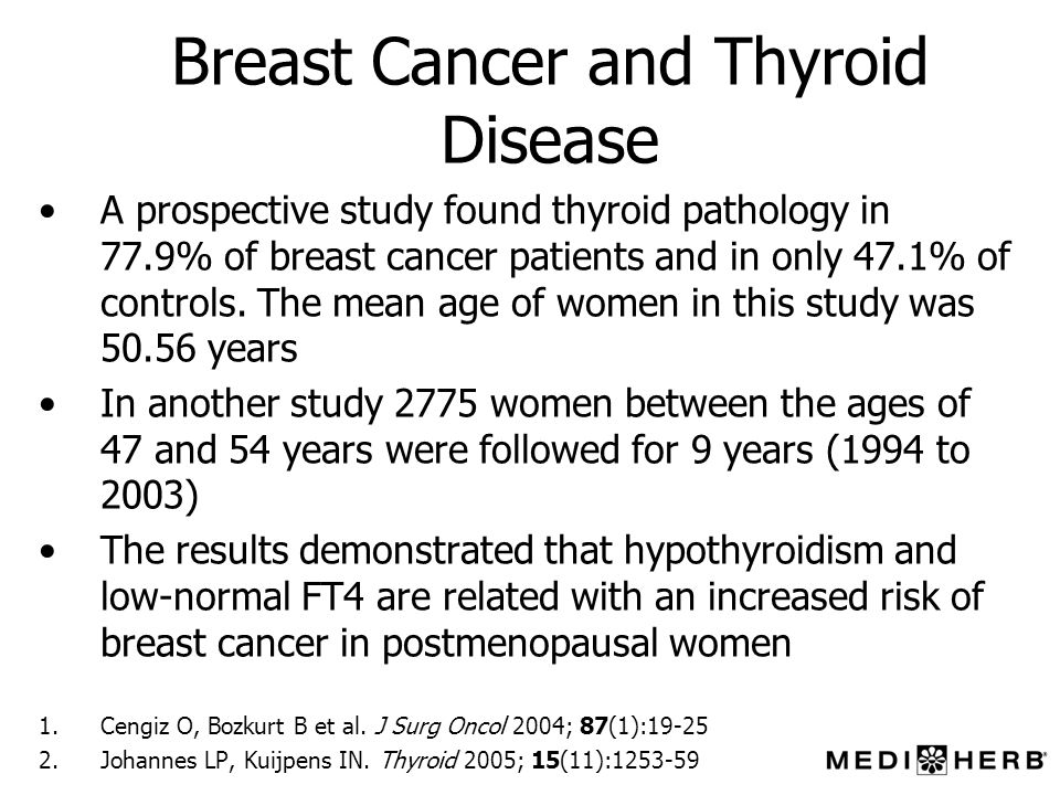 Breast Cancer and Thyroid Disease