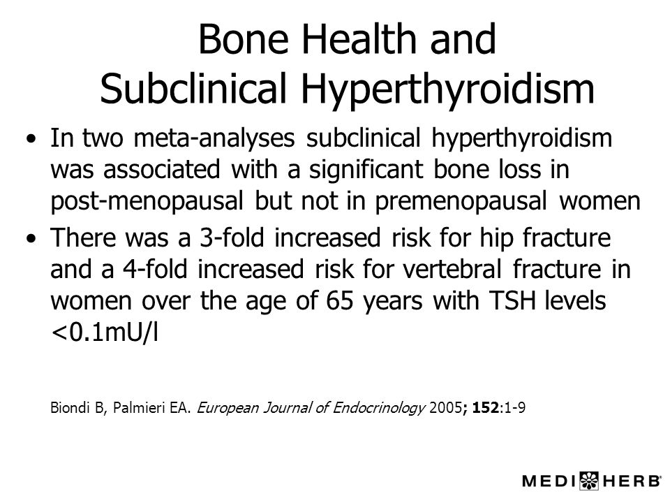 Bone Health and Subclinical Hyperthyroidism