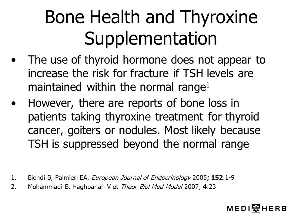 Bone Health and Thyroxine Supplementation