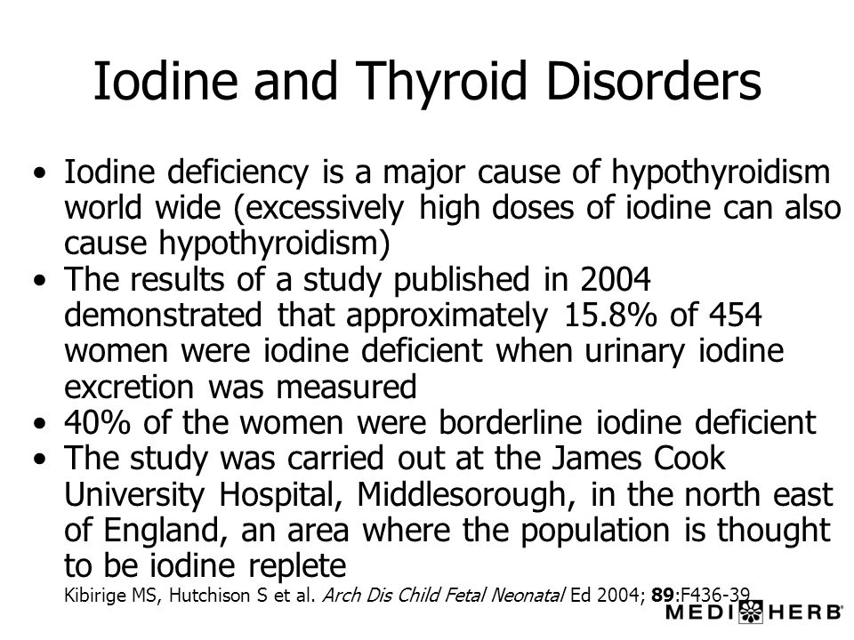 Iodine and Thyroid Disorders