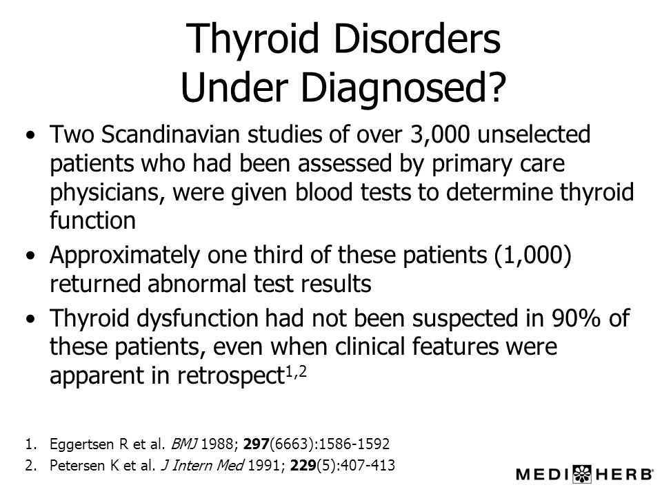 Thyroid Disorders Under Diagnosed