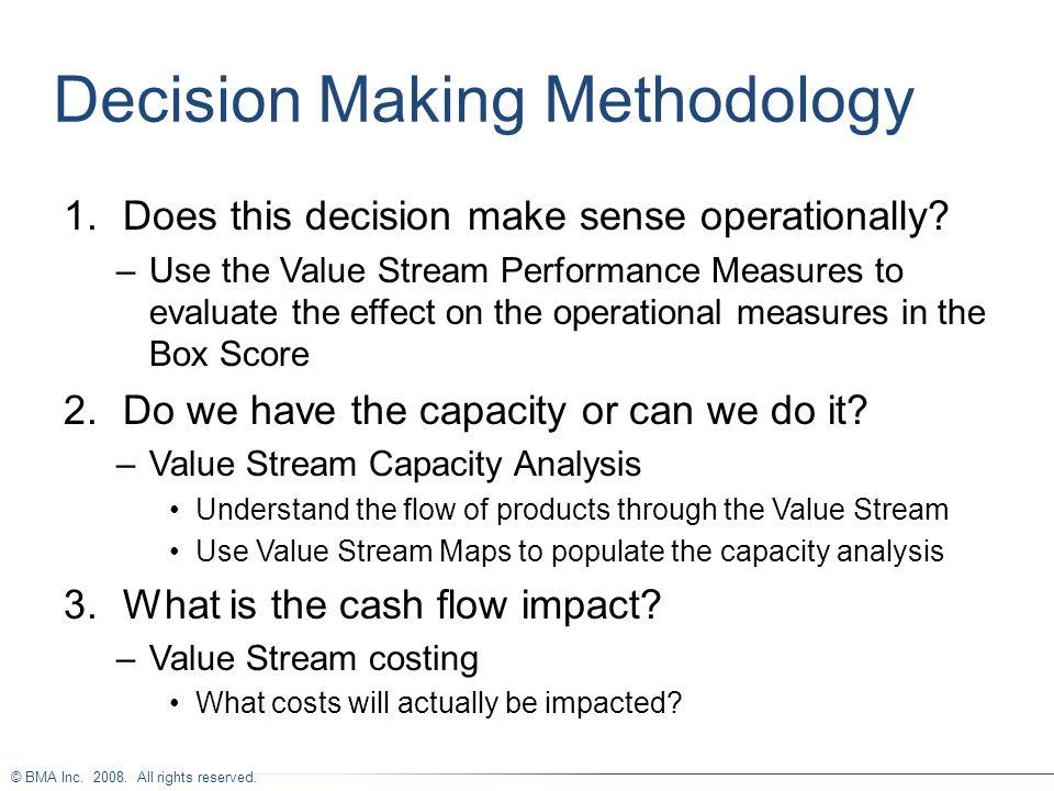 Decision Making Methodology