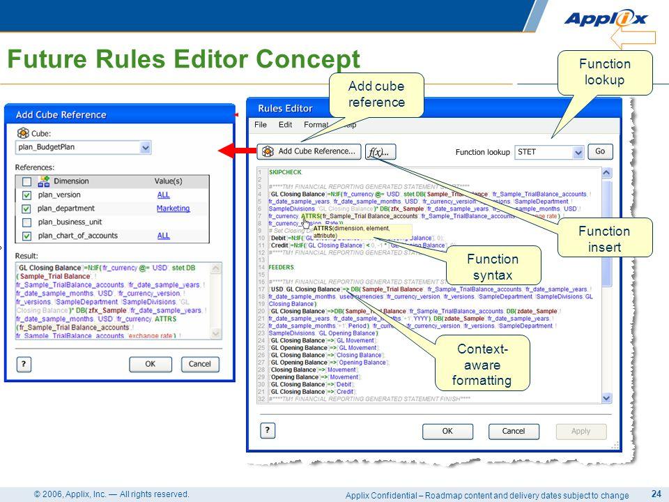 Future Rules Editor Concept
