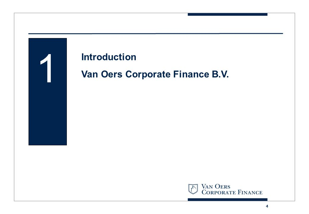 1 Introduction Van Oers Corporate Finance B.V.