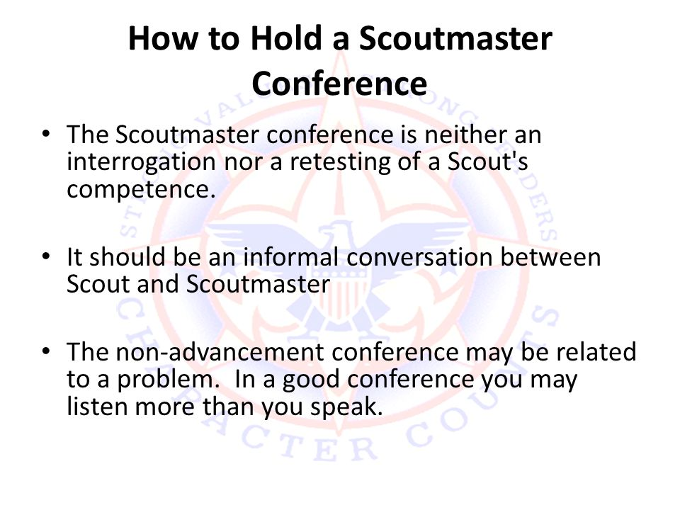 How to Hold a Scoutmaster Conference