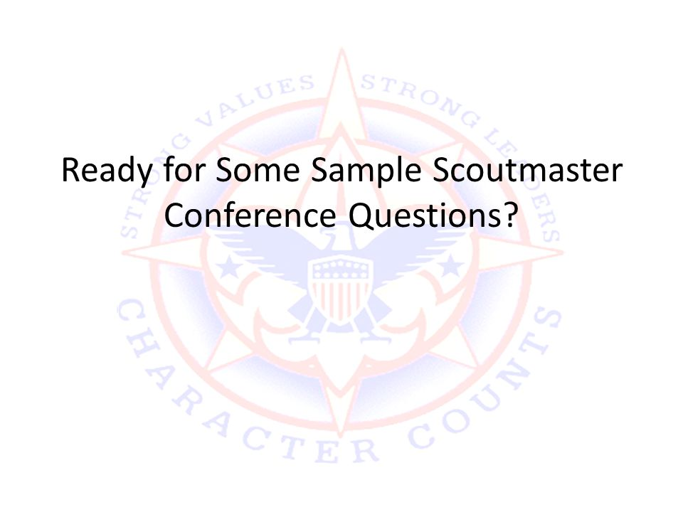 Ready for Some Sample Scoutmaster Conference Questions