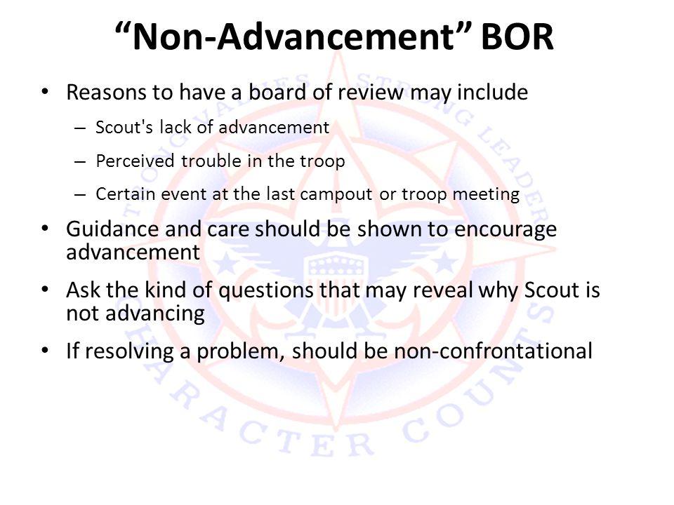 Non-Advancement BOR