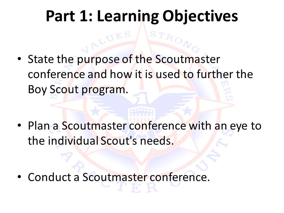 Part 1: Learning Objectives