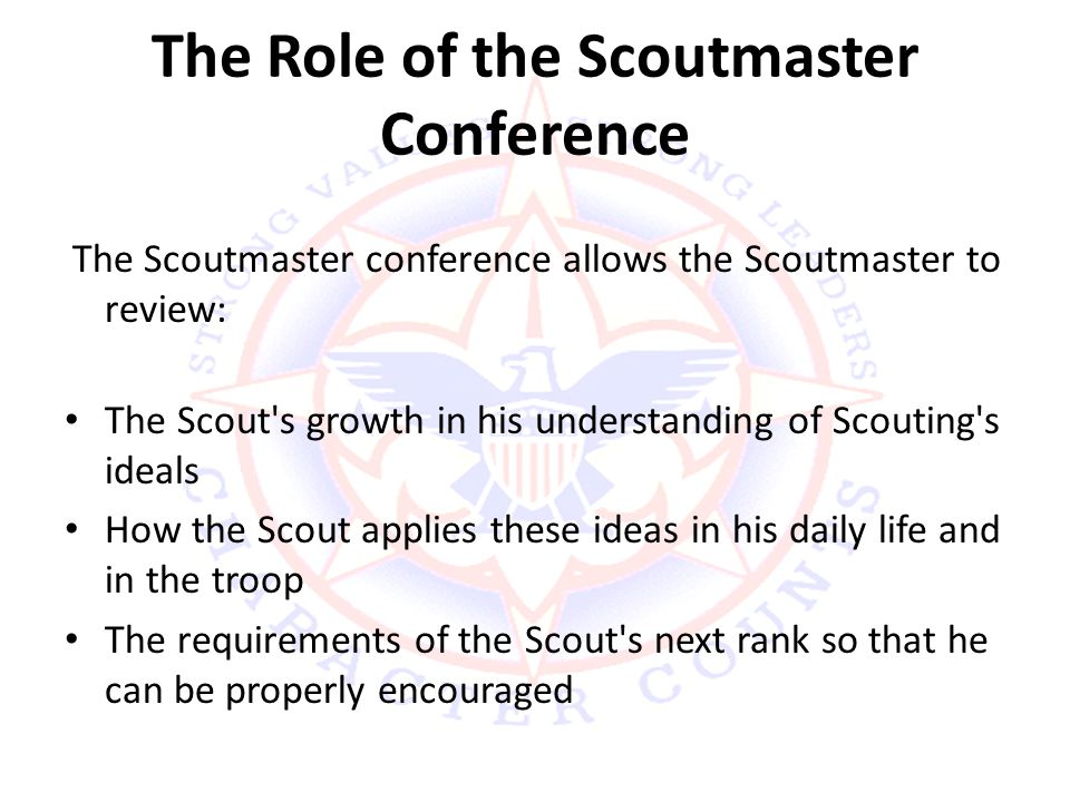 The Role of the Scoutmaster Conference