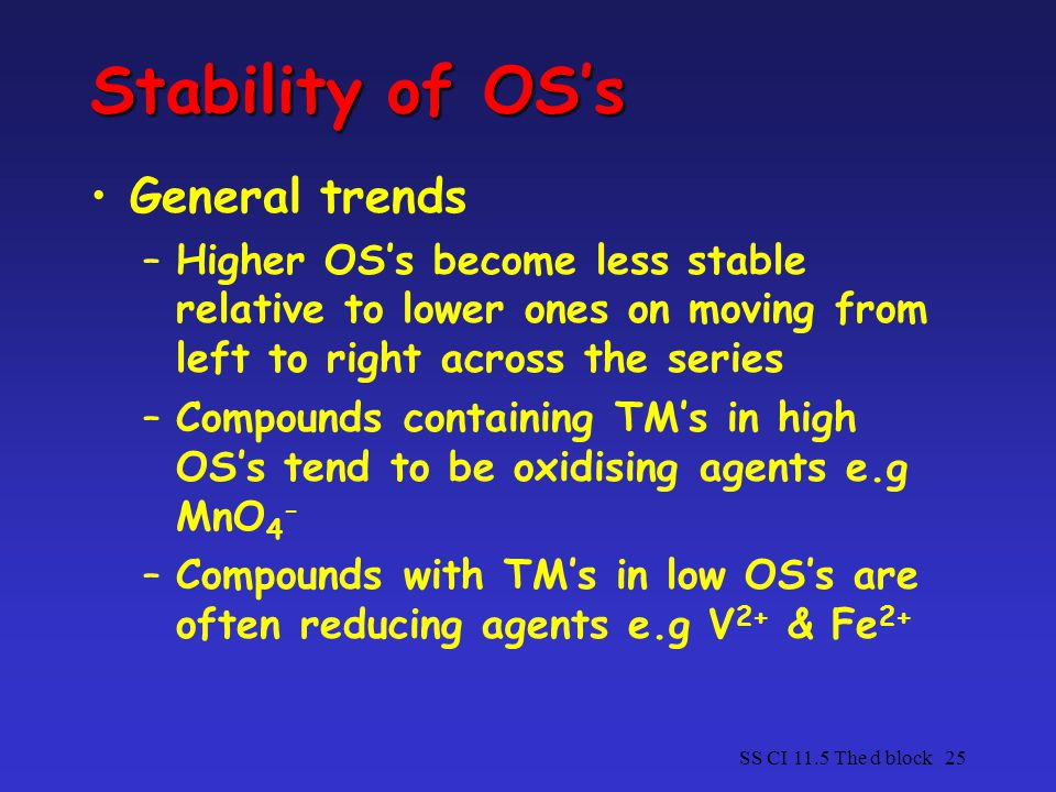Stability of OS's General trends