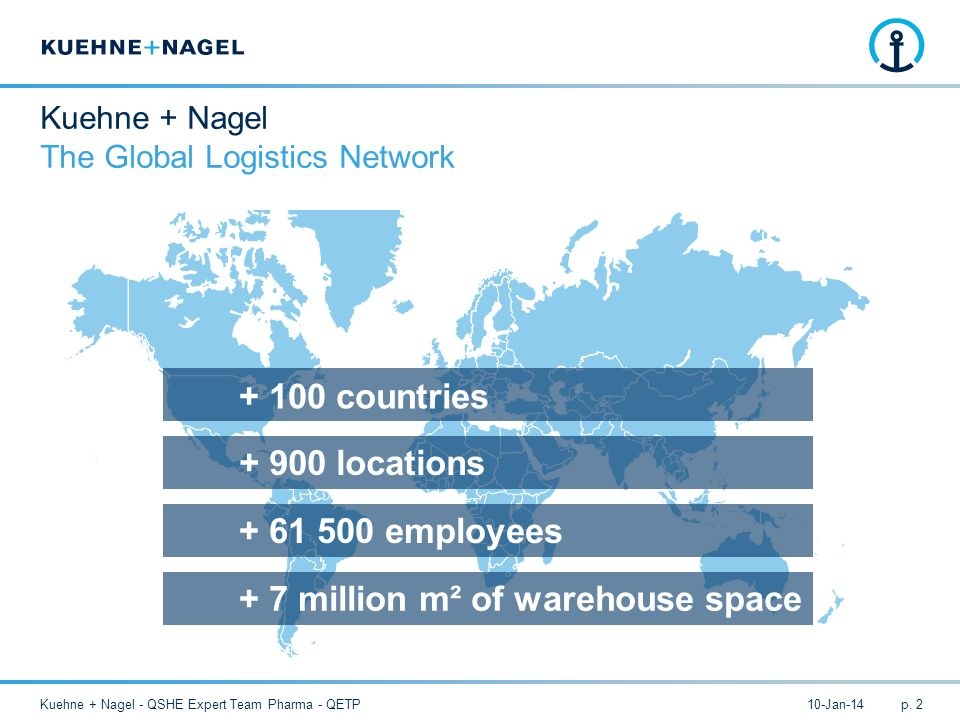 Kuehne + Nagel The Global Logistics Network