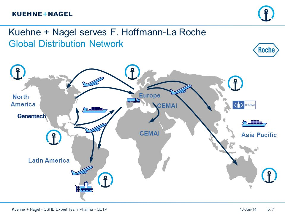 Kuehne + Nagel serves F. Hoffmann-La Roche Global Distribution Network