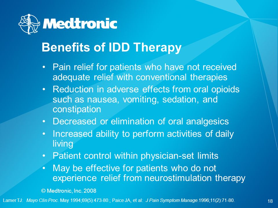 Benefits of IDD Therapy