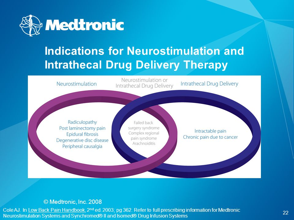 Indications for Neurostimulation and Intrathecal Drug Delivery Therapy