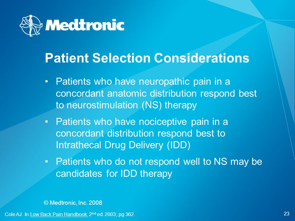 Patient Selection Considerations