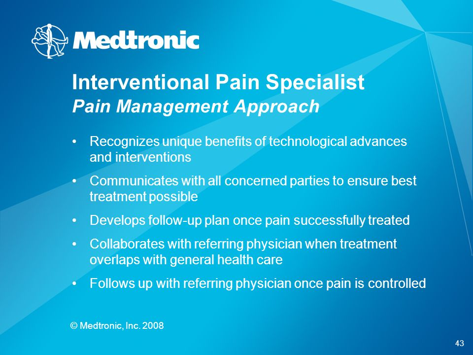 Interventional Pain Specialist Pain Management Approach