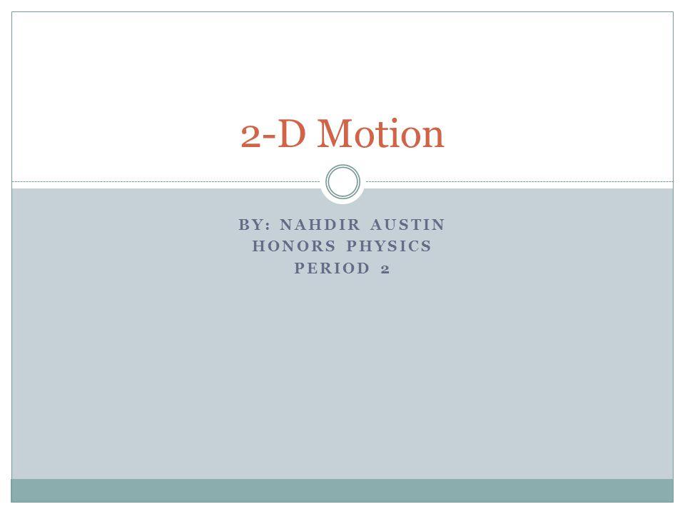 By: Nahdir Austin Honors Physics Period 2